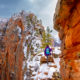 Angels Landing Hike (Zion National Park) – in the snow
